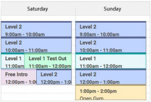 weekendschedule
